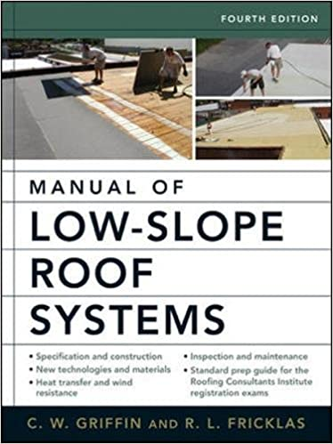 Lovely Manual Of Low Slope Roof Systems: Fourth Edition: C.W. Griffin, Richard  Fricklas: 9780071458283: Amazon.com: Books