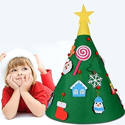 Regali Di Natale Fai Da Te Per Bambini.Fai Da Te Feltro Albero Di Natale Albero Di Natale In Feltro Giocattolo Per Bambini 18pcs Staccabile Appeso Ornamenti Regali Di Natale Bambini