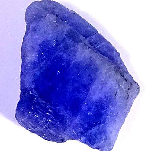 GEMSTONECABS 30.85Ct Natural Unheated Blue Tanzanite Gem Crystal Rough Mineral Specimen