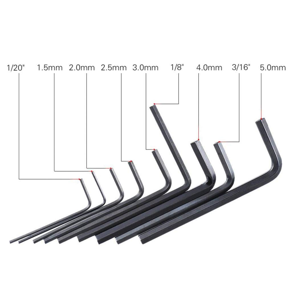 Adjustable Tools for Home Wrench Sets 9Pcs Guitar Bass Neck Bridge Screw Truss Rod Adjustment Hexagonal Wrench Set