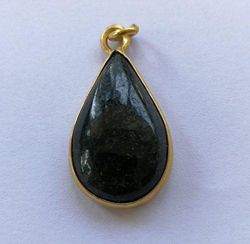 Pear Drop Pendant - Dark Green Vintage Lucky Myanmar Jade Handmade Pear Shape- Water Drop Shape Amulet Necklace Pendant