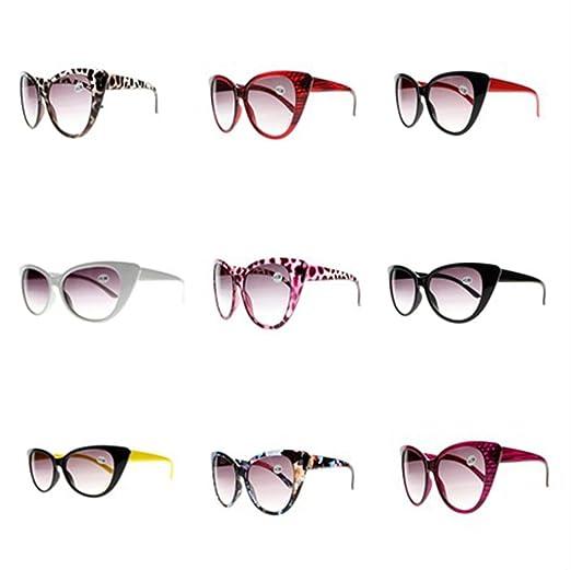 b3b5d4b399 Multi-Colors Designer Stylish Women Cat Eye Reading Glasses Sunglasses Grey  Lens Sun Readers +