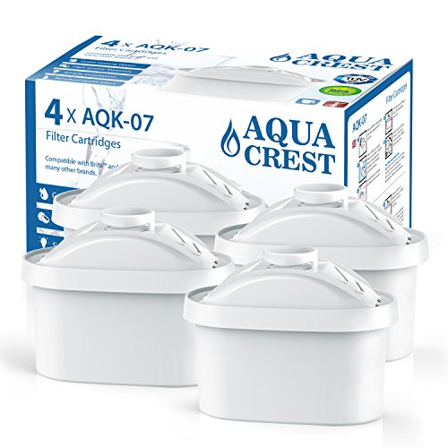 AQUACREST Mavea Maxtra Replacement for Brita Mavea Maxtra 105731, 1001122 Pitcher Water Filter(Package May Vary)(Pack of 4) by AQUACREST