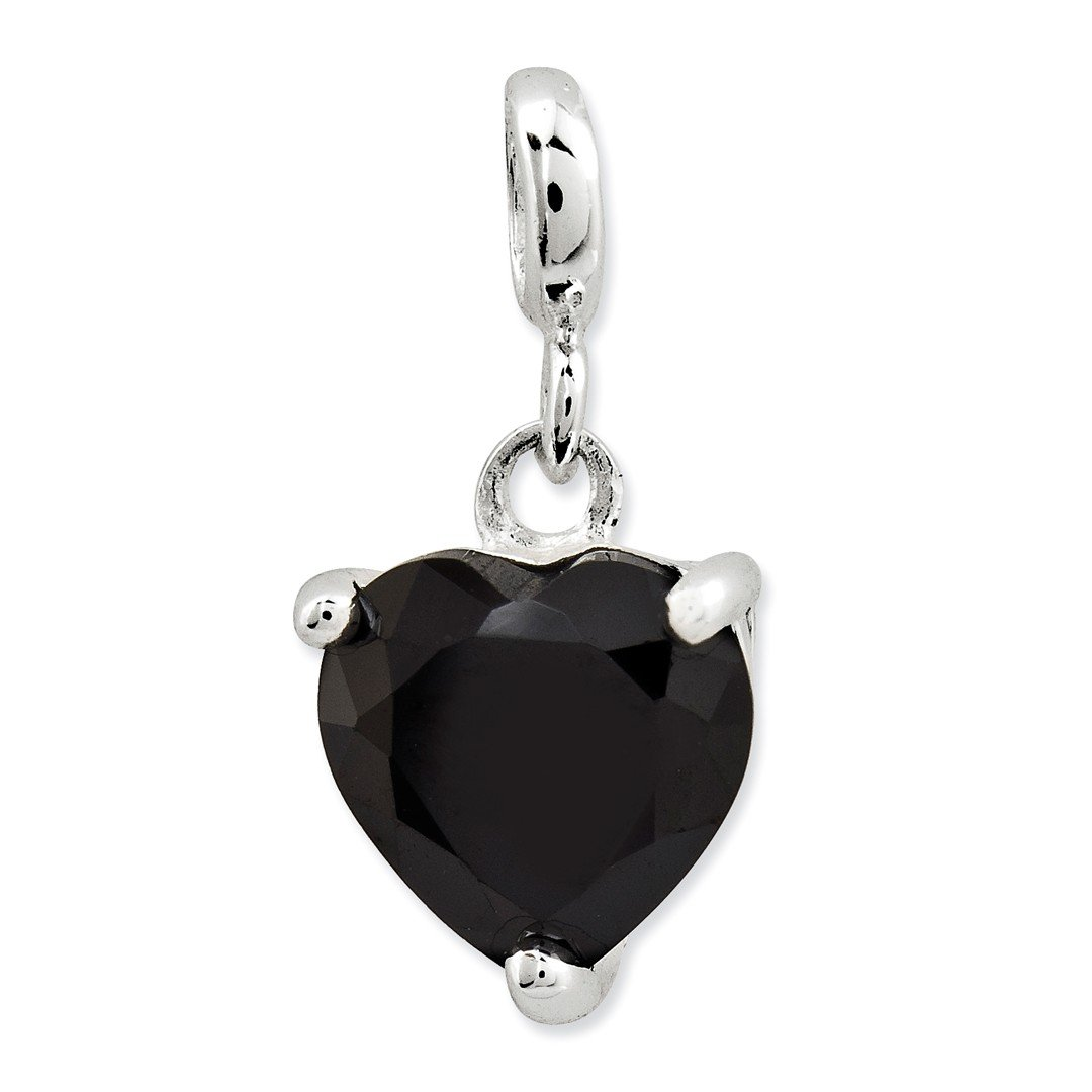 ICE CARATS 925 Sterling Silver Black Cubic Zirconia Cz Heart Enhancer Necklace Pendant Charm Love Fine Jewelry Ideal Gifts For Women Gift Set From Heart