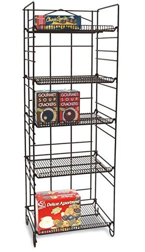Adjustable Folding 5-Tier 53''H x 18''W Wire Shelf Rack Snack Novelty Bakery Merchandise Store Display NEW by Bentleys Display