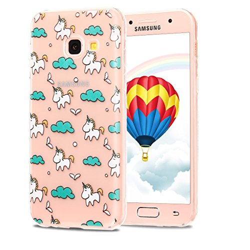 Funda Galaxy A5 2017, CaseLover Carcasa Transparente Suave Silicona TPU para Samsung Galaxy A5 2017 A520 (5.2 Pulgadas) Ultra Delgado Flexible Gel Protectora Cubierta Resistente a los Arañazos Tapa Li Unicornio
