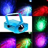 KOOT Disco DJ Lights, 7 Color RGBW Party Lights Stage Light Strobe light Sound Actived LED Projector for Holiday Disco DJ KTV Club(Blue)