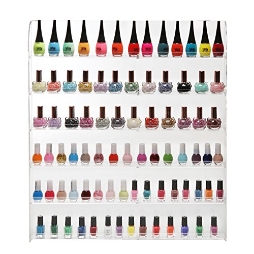 102 Bottles 6 Shelf Pro Clear Acrylic Nail Polish Rack