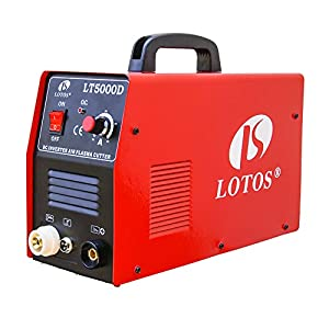 "Lotos LT5000D Plasma Cutter 50Amps Dual Voltage Compact Metal Cutter 110/220V AC 1/2"" Clean Cut by Lotos Technology"