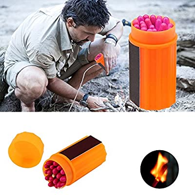 YUIOP Outdoor Matches Portable Windproof Survival Emergency Lighter Matches Hiking Camping 20pcs