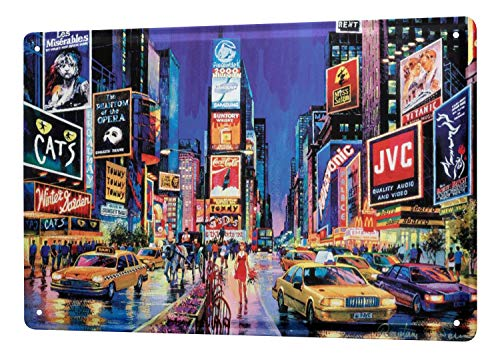 LEotiE SINCE 2004 Tin Sign Metal Plate Decorative Sign Home Decor Plaques World Tour New York Broadway Musical Metal Plate 8X12