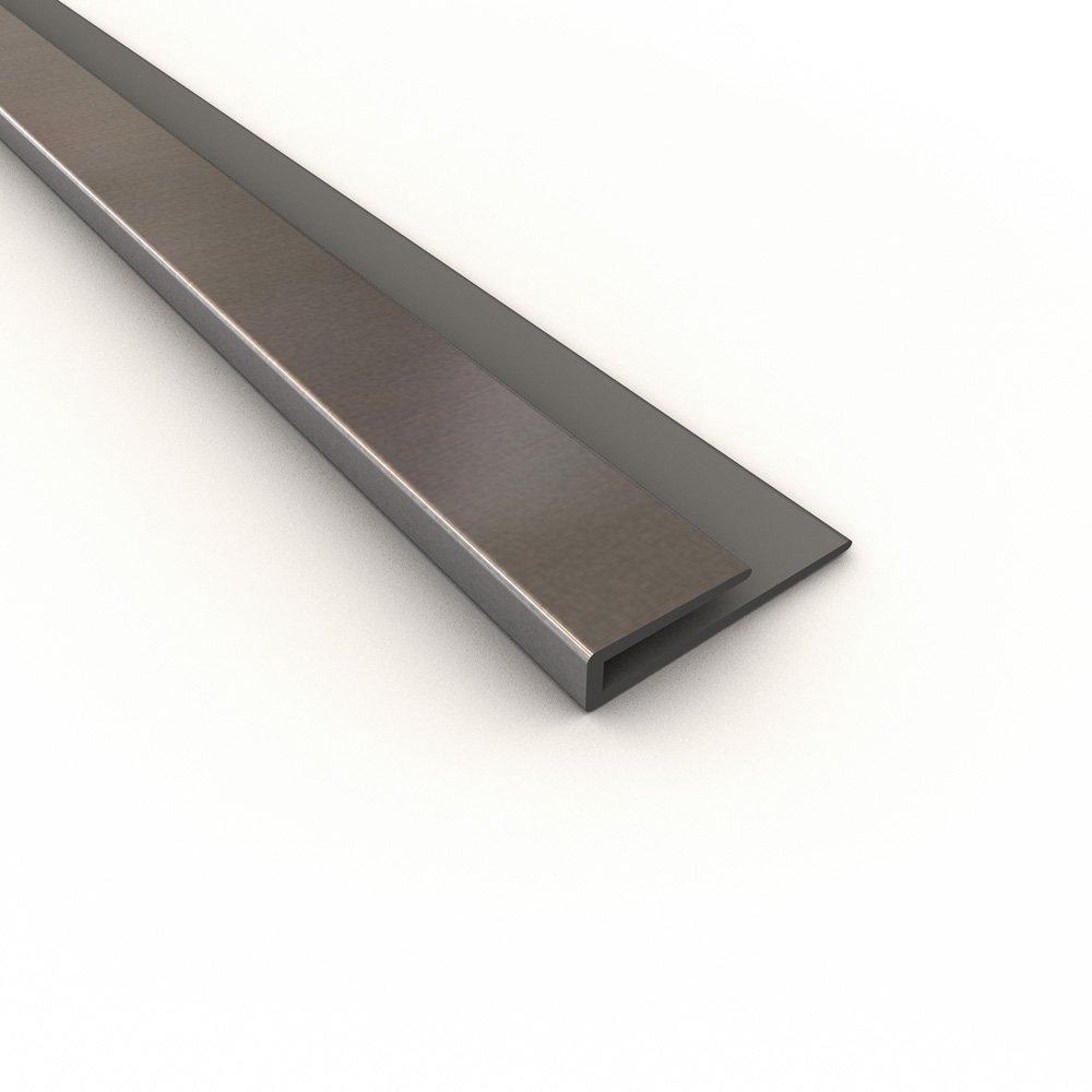 Fasade 176-08 Large Profile J-trim, 4', Brushed Aluminum
