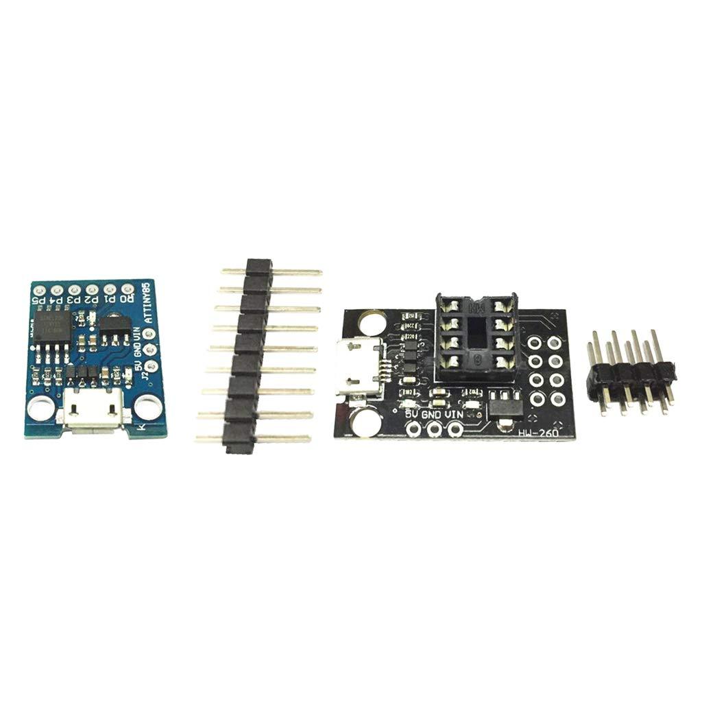 B Blesiya 4PCS Combo ATTINY85 Micro Arduino USB Single Machine Development Board Module and Pluggable Development Programming Board for ATtiny