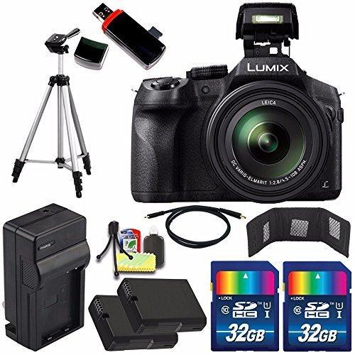 Panasonic Lumix DMC-FZ300 Digital Camera + Extra Battery + Charger + 32GB Card + HDMI Cable + Tripod + USB Card Reader + Deluxe Accessory Kit Bundle