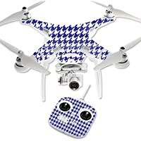 Skin For DJI Phantom 3 Standard – Blue Houndstooth | MightySkins Protective, Durable, and Unique Vinyl Decal wrap cover | Easy To Apply, Remove, and Change Styles | Made in the USA
