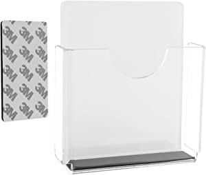 Office Supplies Magnetic Acrylic Pen Holder Organizer Cubicle Wall Mounted, Dry Erase Marker Pocket Storage Holder for Whiteboards Refrigerator (Clear)