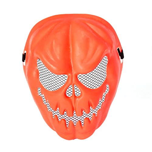 Pictures Of Weird Halloween Costumes (Yumian Props Pumpkin Skull Skeleton Face Mask Halloween Masquerade Party Costume Mask)