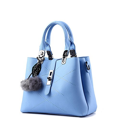 (G-AVERIL) pelle Donna Borsa Handbag borsa a Spalla Borse a mano Tote Bag Shoulder Bag blu