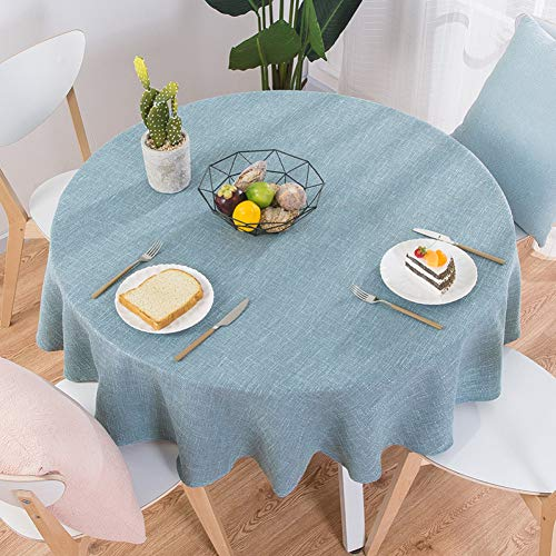 (MZFZB Tablecloth Rose Cotton Linen Table Cloth Round Wedding Party Table Cover Nordic Tea Coffee Tablecloths Home Kitchen Decor)