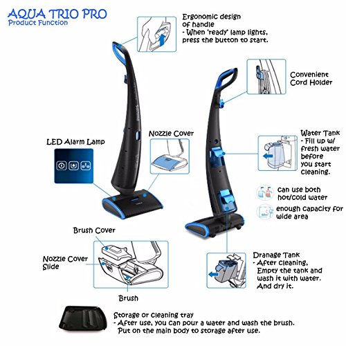 philips fc7088 aqua trio pro vacuum cleaner w wet mop cleaning 220v buy online in uae. Black Bedroom Furniture Sets. Home Design Ideas