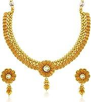 Sukkhi Eye-Catchy Jalebi Design Gold Plated Necklace Set Fo