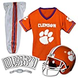 Franklin Sports Clemson Tigers Kids College Football Uniform Set - Youth NCAA Uniform Set - Includes Jersey, Helmet, Pants - Youth Medium
