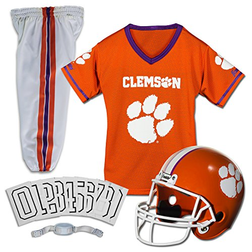 Franklin Sports NCAA Clemson Tigers Deluxe Youth Team Uniform Set, Medium