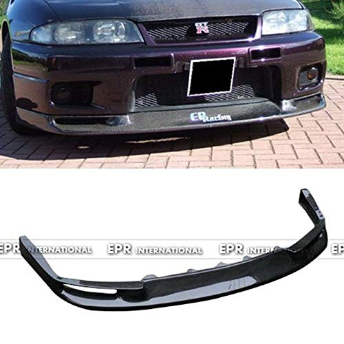 FidgetKute Carbon Fiber Jun Front Lip Kit Splitter for Nissan Skyline R33 GTR Car ()