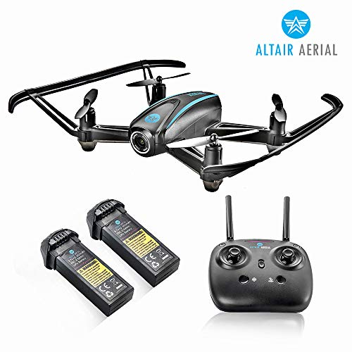 Altair #AA108 Camera Drone Great for Kids & Beginners, RC Quadcopter w/ 720p HD FPV Camera VR, Headless Mode, Altitude Hold, 3 Skill Modes, Easy Indoor Drone, 2 Batteries (The Best Budget Drone)