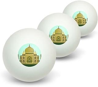 Inde Taj Mahal–Fantaisie de voyage–Lot de 3balles de ping-pong Graphics and More