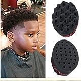 Lookatool For Dreads Afro Locs Twist Curls Coil Magic Tool Wave Barber Hair Brush Sponge