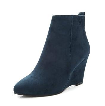 SHANGWU Zapatos con cuña para Mujer Botines/Tacón Alto Oculto 8 CM Zapatillas de Deporte
