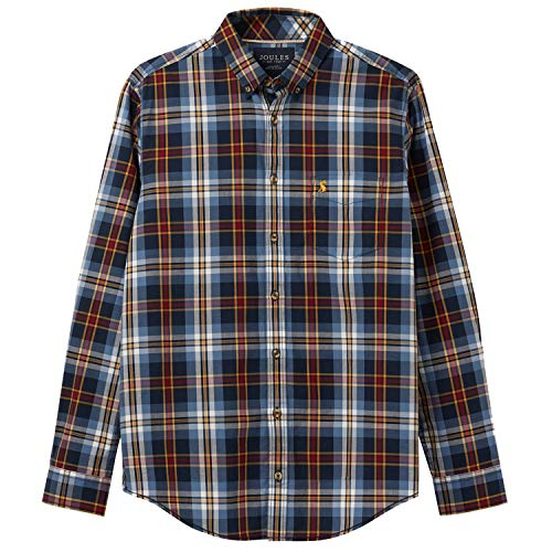 Joules Lyndhurst Classic Shirt X Large Blue Mutli Check