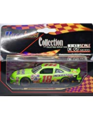 2001 - Lucky Plan/NASCAR - Race Image - Bobby Labonte #18 - Interstate Batteries - Pontiac Grand Prix in Display Case - 1:43 Scale - Mint - Collectible