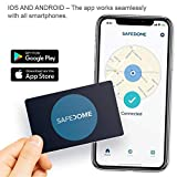 Safedome Classic - The Worlds Thinnest Bluetooth Tracking Card. Easily Find Your Lost Wallet, Bag, Backpack or Phone. Fits Perfectly in Your Wallet or Purse. This Product is Not Rechargeable.