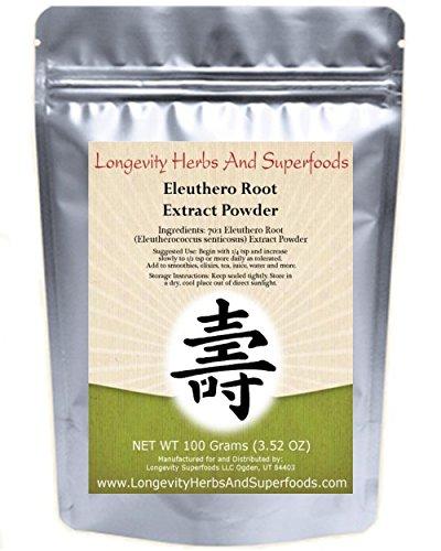 (Eleuthero Root Extract Powder Siberian Ginseng 70:1 (100 Grams 3.52 Oz) Ci Wu Jia)