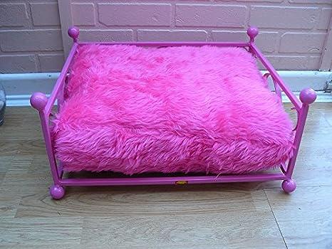 Caliente rosa Tea-Cup perro cama hecho a mano de hierro ...