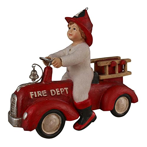 Bethany Lowe Ethan on Fire Truck Ornament