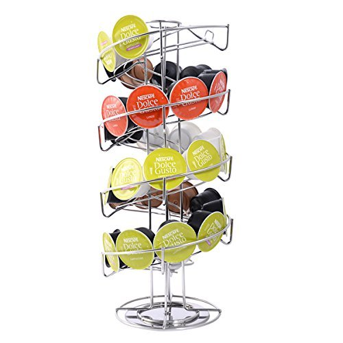 NEW Spiral 30 Capsule Coffee Pod Holder Tower Rotate Stand Storage Rack