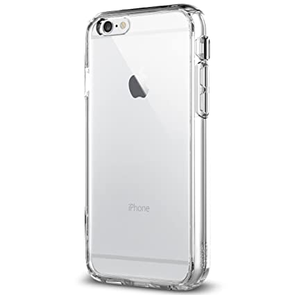 new concept 41c30 6df9d iPhone 6 Case/iPhone 6S Case, Spigen Ultra Hybrid FX - Front Built-in  Screen Protector Cover for Apple iPhone 6S / iPhone 6 - Crystal Clear