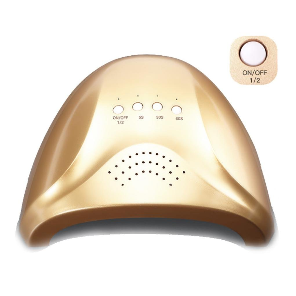 Rosennie 48W LED UV Nail Gel Curing Lamp Light Nail Gel Polish Dryer Nail Art Machine Mini UV Lampe für Nägel Drahtlos Fingernagel & Zehennagel Maschine Nail Art Malerei Salon Tool (Gold)
