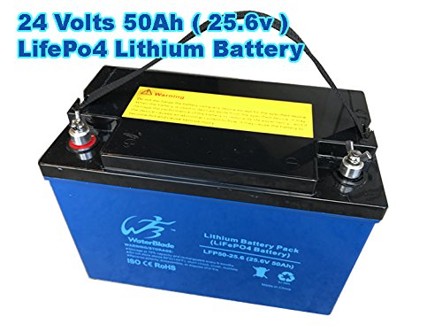 24V LITHIUM BATTERY LIFEPO4 - 50AH (25.6V)-Solar-Marine-RV-GolftCart