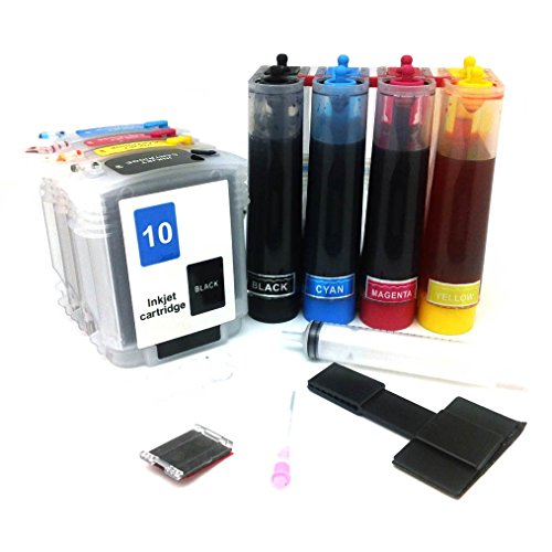 CISinks Continuous Ink Supply System CISS for HP 10/11 Printers - OfficeJet 9110 9120 9130 K850 BusinessJet 1000 1100 1200 1300 2200 2600 CP 1700 2280 2250 2230 2300 2600 2800 DeskJet 70 100 110 2000 - CIS (System Jet Cp Ink)