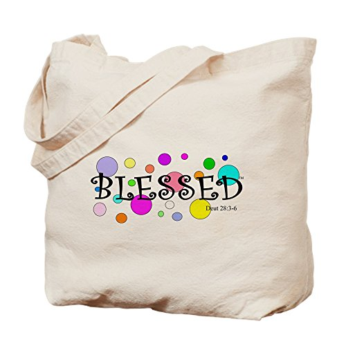 CafePress - I Am Blessed - Natural Canvas Tote Bag, Cloth Shopping Bag