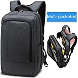 LAPACKER 17 Inch Lightweight Slim Business Laptop Backpack for Men Water Resistant Computer Backpacks Traveling Bags in Black