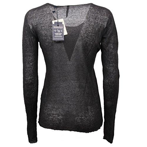 Scuro Sweater Woolrich Lino Donna Woman Grigio Maglione C5414 RxWa0I
