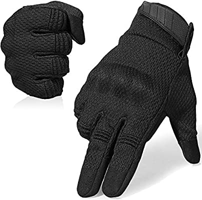 WTACTFUL Touch Screen Rubber Hard Knuckle Full Finger Gloves for Cycling Motorcy