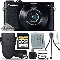 Canon PowerShot G9 X Digital Camera (Black) + Backup Battery + 32GB Class 10 Memory Card + Card Reader + Case + Tripod + Deluxe Cleaning Kit - International Version