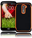 lg g2 case orange - Bastex Hybrid Deluxe Orange Shock Armor Case for LG G2 VS980 D800