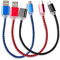 HTTX [3-Pack] 8 inch Micro USB Cable, USB 2.0 A Male to...